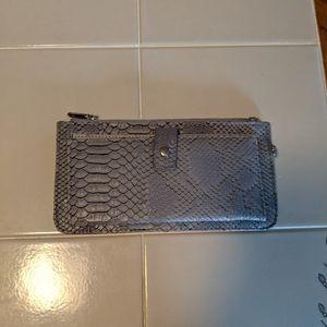 Blue gray snake skin wallet